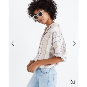 MADEWELL • courier shirt in aldwin stripe